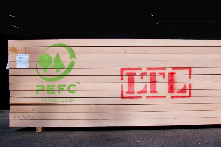 LTL Woodproducts verkoop PEFC-gecertificeerd hout