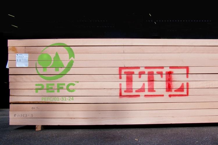 LTL Woodproducts verkoopt PEFC gecertificeerd hout