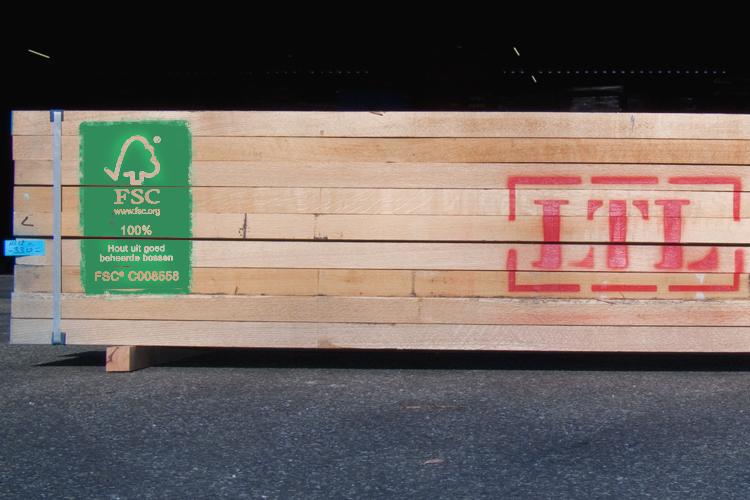 LTL Woodproducts verkoopt FSC-gecertificeerd hout