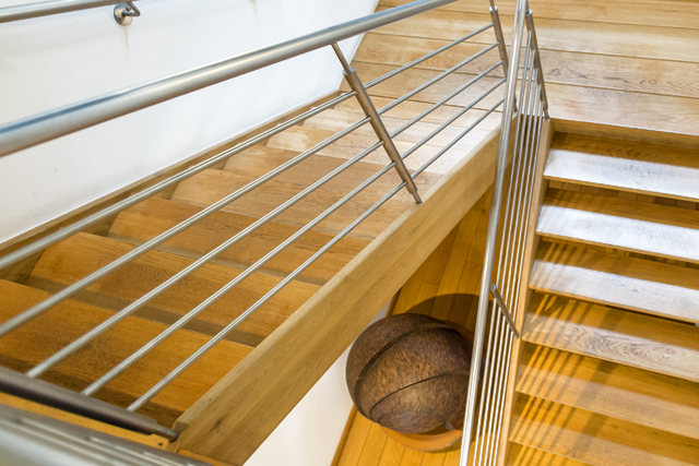 Staircase in the LTL Woodproducts head office